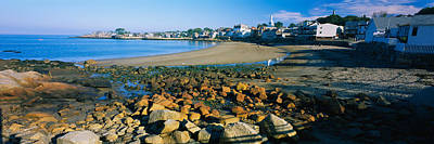Houses Along The Beach, Rockport Poster by Panoramic Images