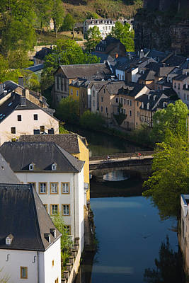 Houses In A Town, Grund, Luxembourg Poster by Panoramic Images