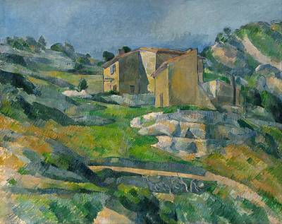 Houses In Provence Poster by Paul Cezanne
