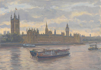 Houses Of Parliament Poster by Julian Barrow