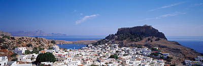 Houses On An Island, Lindos, Rhode Poster by Panoramic Images