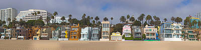 Houses On The Beach, Santa Monica, Los Poster by Panoramic Images