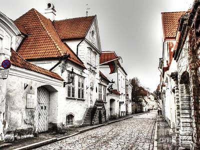 Houses Streets Of Tallinn Poster by Yury Bashkin