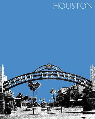 Houston Kemah Boardwalk - Slate Poster