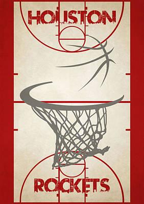 Houston Rockets Court Poster