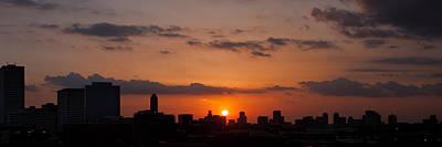 Houston Skyline At Sunset Poster