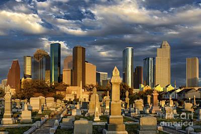 Houston Sunset Skyline Poster
