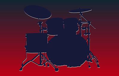 Houston Texans Drum Set Poster