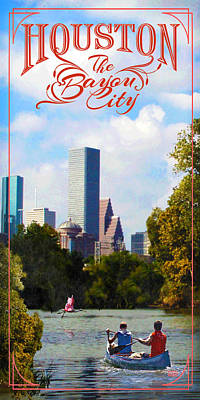 Houston The Bayou City Poster by Jim Sanders