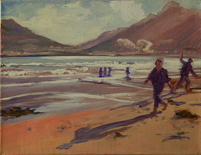 Hout Bay Beach Sunset Poster by Thomas Bertram POOLE