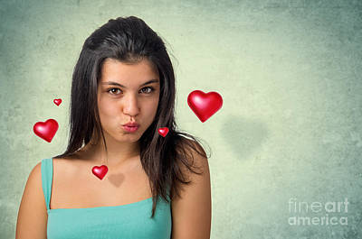 Hovering Hearts Poster by Carlos Caetano