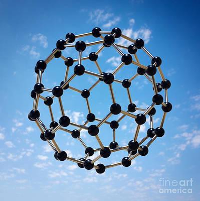 Hovering Molecule Poster by Carlos Caetano