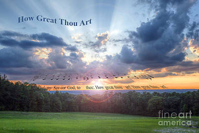 How Great Thou Art Sunset Poster