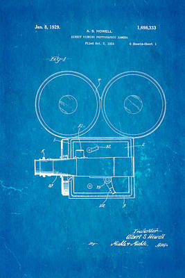 Howell Direct Viewing Camera Patent Art 1929 Blueprint Poster by Ian Monk