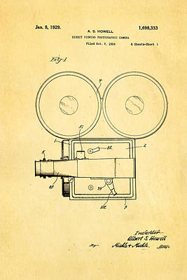 Howell Direct Viewing Camera Patent Art 1929 Poster by Ian Monk
