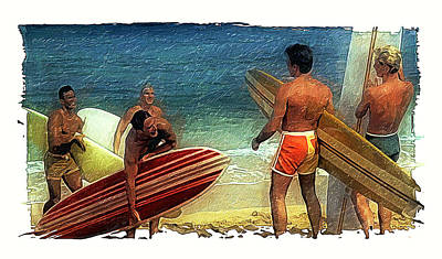Hows The Surf Poster by Ron Regalado