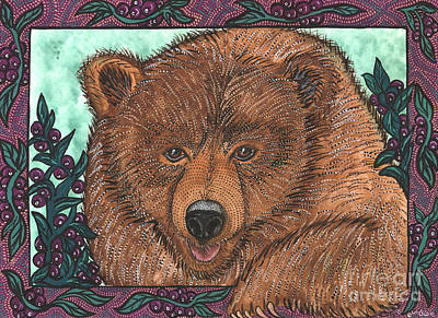 Huckleberry Bear Poster by Melissa Cole