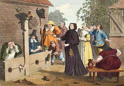 Hudibras And Ralpho In The Stocks Poster by William Hogarth