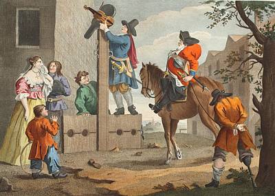 Hudibras Leading Crowdero In Triumph Poster by William Hogarth