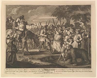 Hudibrass First Adventure Twelve Large Poster by William Hogarth
