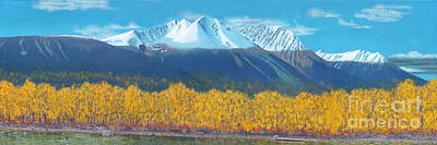 Poster featuring the painting Hudson Bay Mountain by Stanza Widen