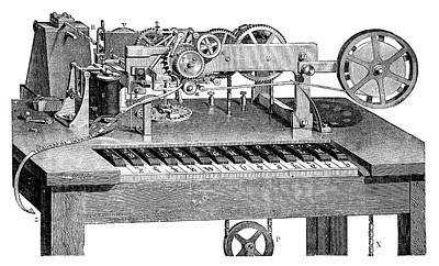 Hughes Printing Telegraph Poster by Science Photo Library