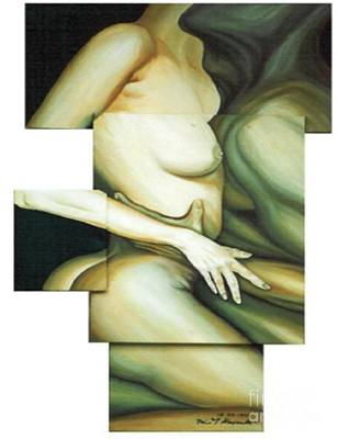 Poster featuring the painting Hug_sold by Fei A