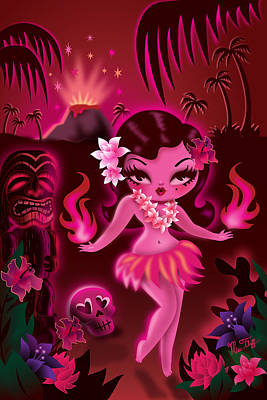Hula Exotica Poster by Miss Fluff Claudette Barjoud
