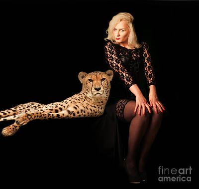 Poster featuring the photograph Human And Animal by Christine Sponchia