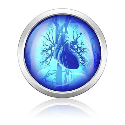 Human Heart Poster by Pixologicstudio