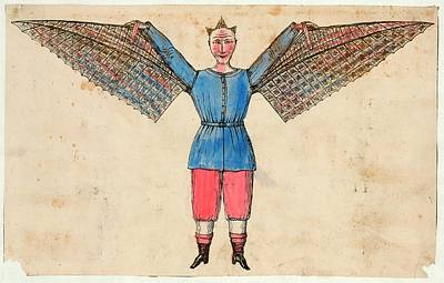Human Ornithopter Poster by Library Of Congress