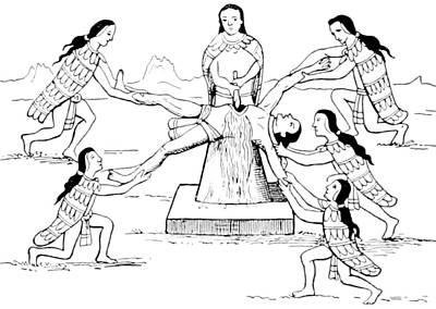 Human Sacrifice, Pre-columbian Poster by British Library