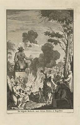 Human Sacrifice To The Idol Moloch, Jan Lamsvelt Poster by Quint Lox