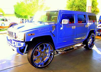 Hummer Too Blue Poster