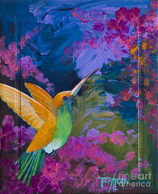 Hummers Paradise Poster by Tracy L Teeter