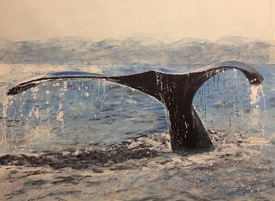 Poster featuring the painting Humpback by Stan Tenney