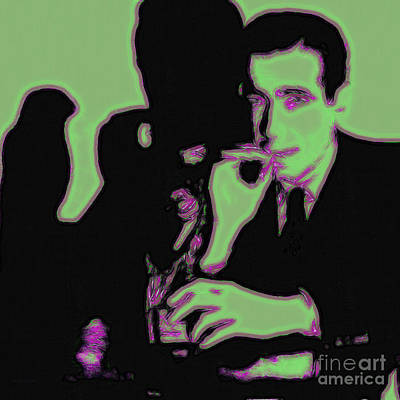 Humphrey Bogart And The Maltese Falcon 20130323 Square Poster