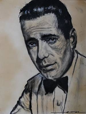 Poster featuring the drawing Humphrey Deforest Bogart -1  by Eric Dee
