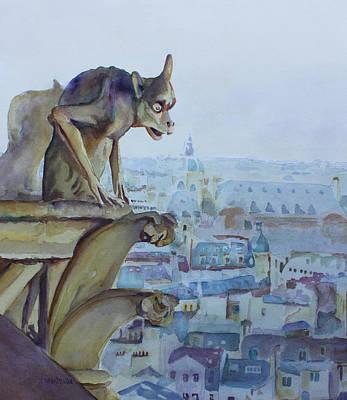 Hunchbacked Gargoyle Poster by Jenny Armitage