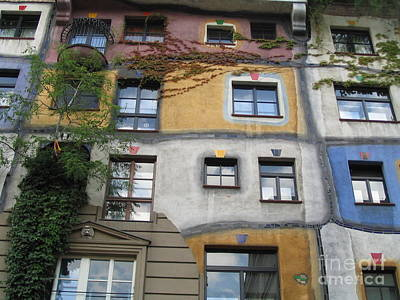 Hundertwasser Colored House Poster by Eclectic Captures
