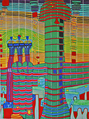 Hundertwasser Das Ende Griechenlands In 3d By J.j.b. Poster by Jesse Jackson Brown