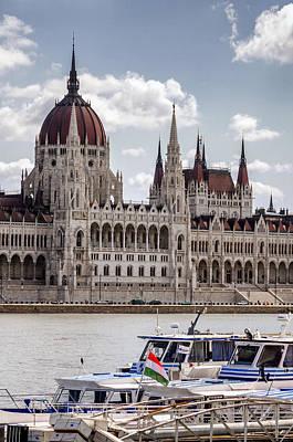 Hungarian Parliament Across The Danube Poster