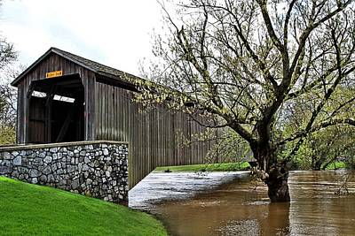 Hunsecker's Mill Covered Bridge Poster by DJ Florek
