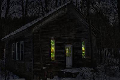 Hunter's Cabin Poster by David Simons