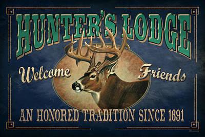 Hunters Lodge Deer Poster by JQ Licensing