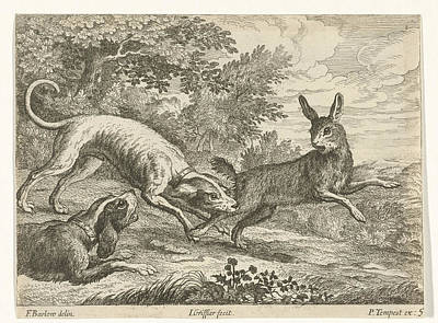 Hunting A Hare, Jan Griffier I, Pierce Tempest Poster