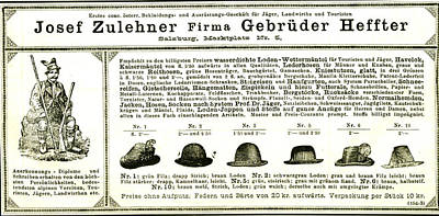 Hunting Hats Austria 1891 Poster by Austrian School