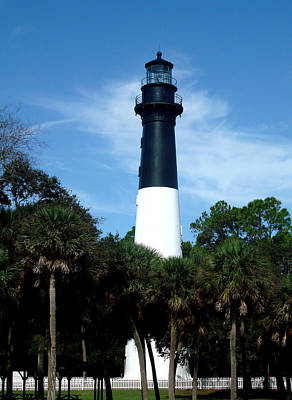 Poster featuring the photograph Hunting Island Lighthouse by Ellen Tully