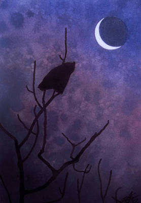 Hunting Moon II Or Great Horned Owl Poster