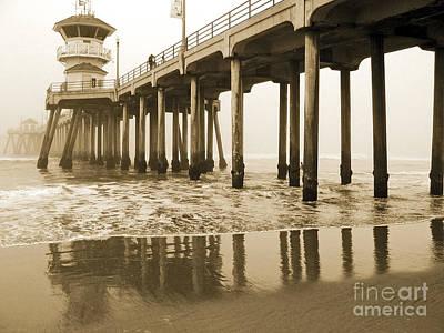 Huntington Beach Pier - Vintage Poster